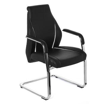 Besöksstol/konferensstol, Von - Svart läder