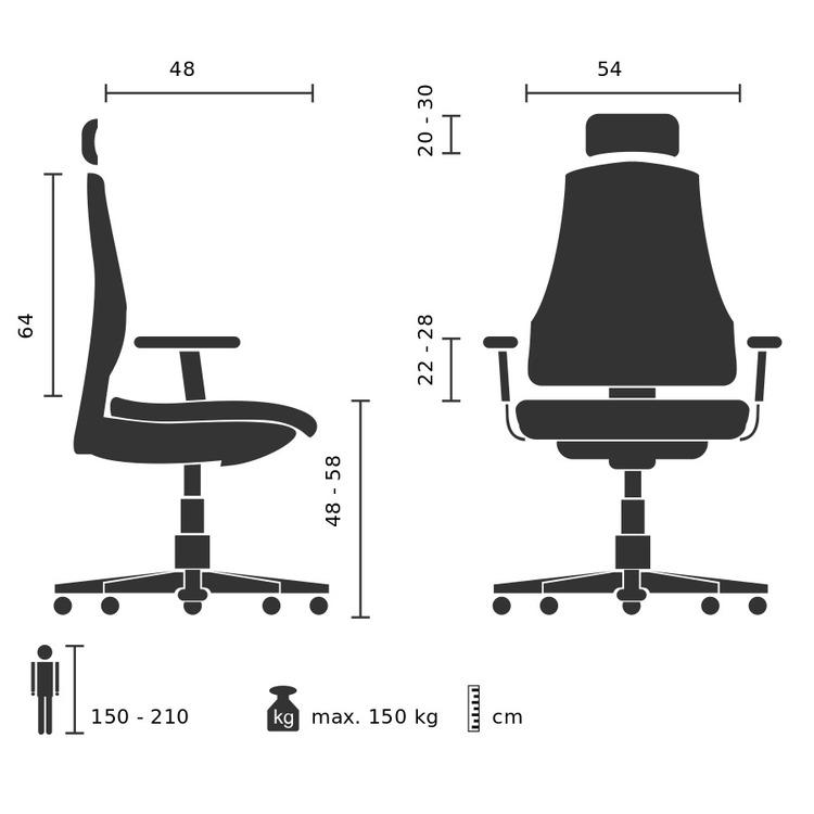 Skrivbordsstol, Guard Skinn - 24 timmarsstol / Bevakningsstol