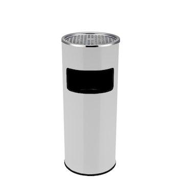 Papperskorg, CLEAN 2-in-1 - Askfat Krom - Svart - Vit