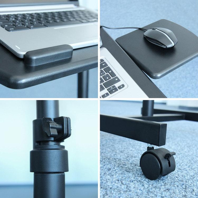 Höj sänkbart ståbord för laptop, PRESENTATION med hjul