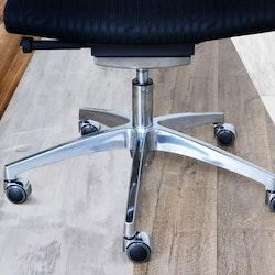5 x Designhjul ROLOS LUX 11 mm / 50 mm - Stolshjul för hårda golv - Krom