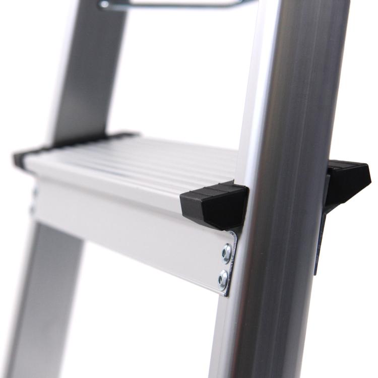 Dubbelsidig, vikbar kontorsstege i aluminium - SOLID