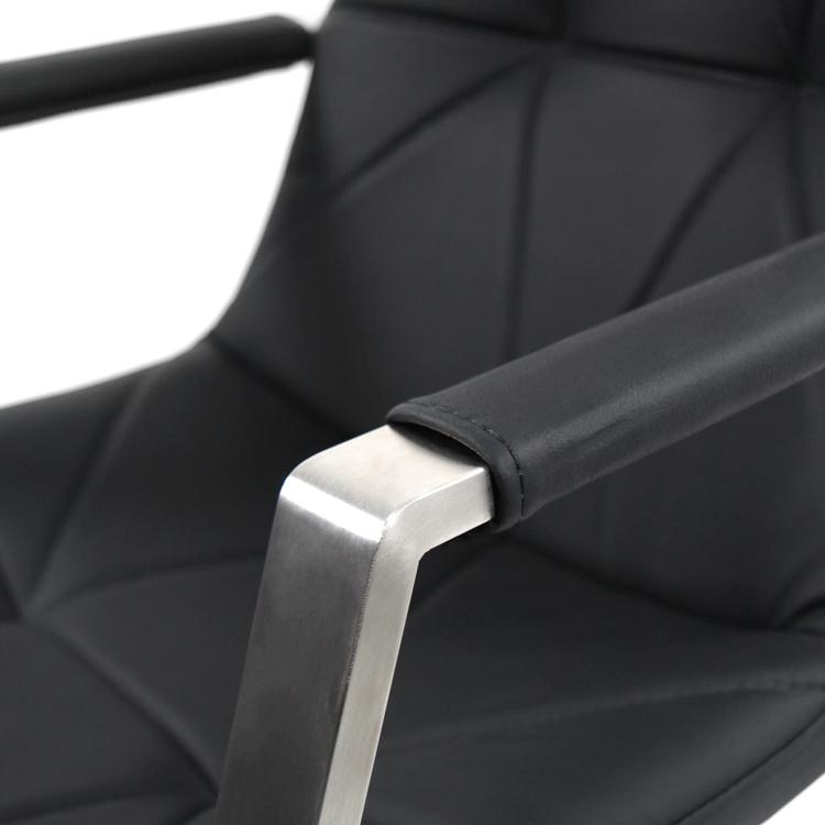 Kontorsstol, Saranto Pro Low - Svart läder