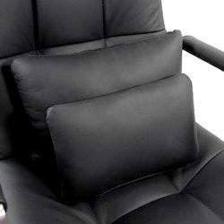 Skrivbordsstol, Saranto Pro High - Svart läder