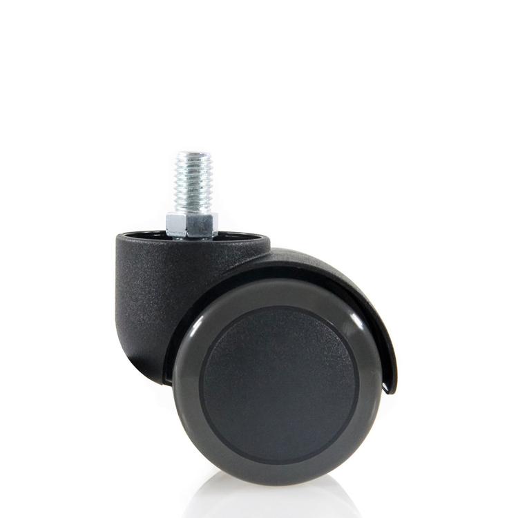 5-pack hjul för hårda golv 50 mm / M10 gänga