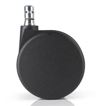5-pack stolshjul för mjuka golv ROLOS 11 mm / 75 mm - Low Noise Technology