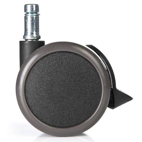 5-pack stolshjul för hårda golv med broms ROLOS STOP 11 mm / 65 mm - Låsbara stolshjul