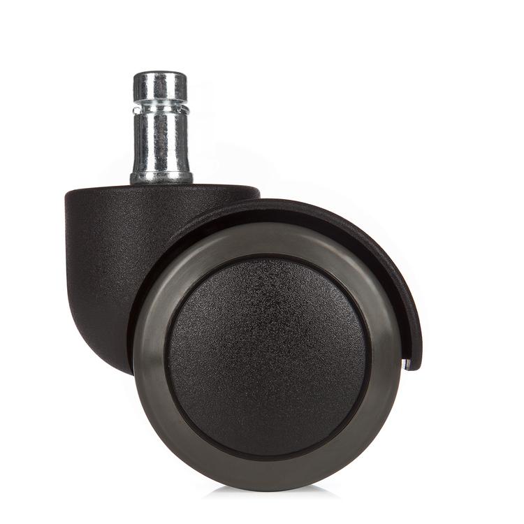 5-pack stolshjul för hårda golv ROLOS 11 mm / 50 mm - Skrivbordsstolshjul för hårda golv