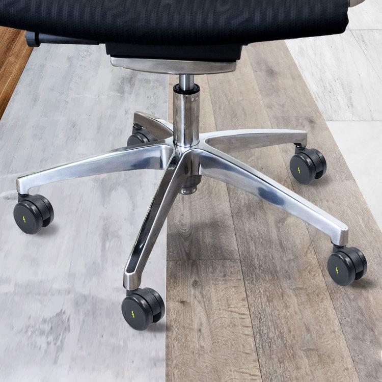 5-pack Rolos ESD stolshjul 11 mm / 65 mm - Hårda golv