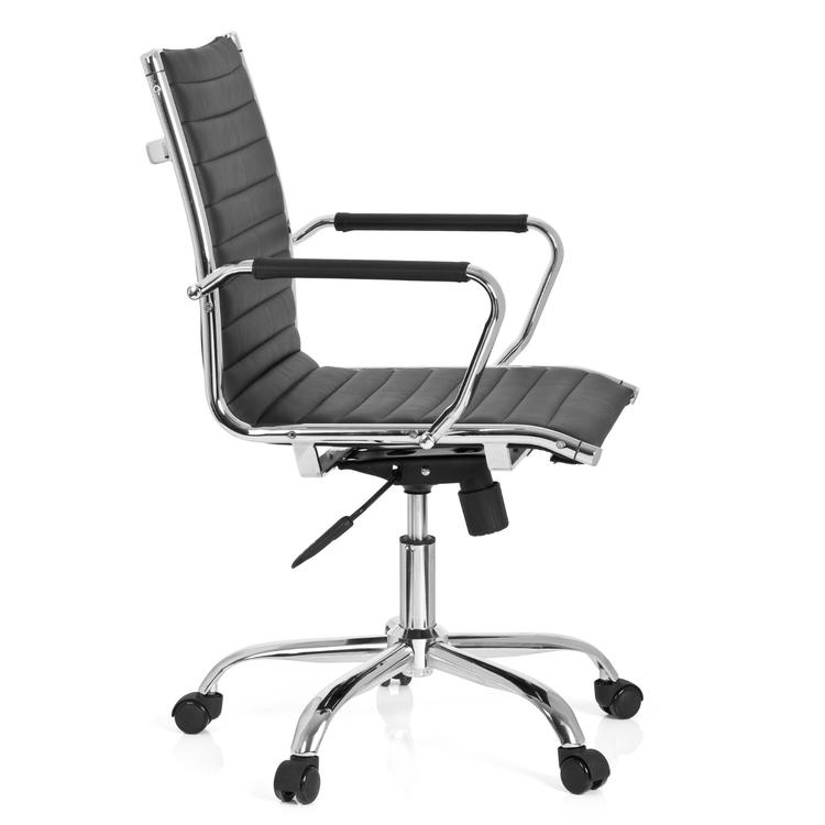 Ergonomisk stol, Villas Low - Svart konstläder