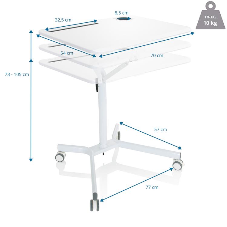 Ståbord / talarbord, STAND VM 73-105 cm