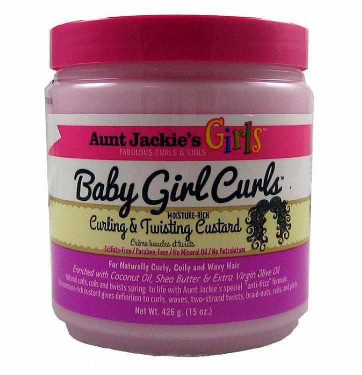 Aunt jackie's baby  girl curling & twisting custard 426g