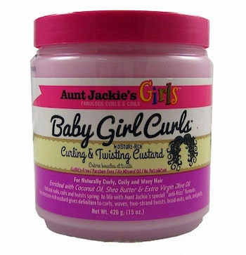 Aunt jackie's baby  girl curling & twisting custard 426g