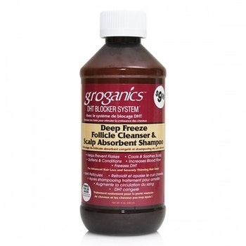 Groganics deep freeze follicle cleanser & scalp absorbent shampoo 237ml