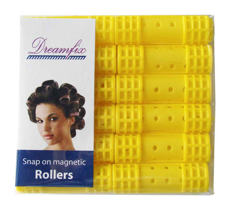 Snap on magnetic rollers yellow (small)