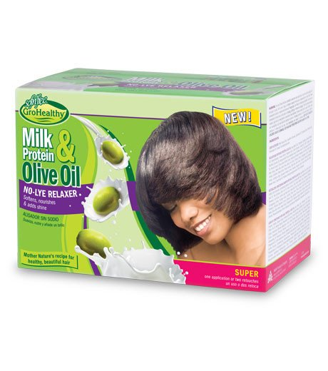 Soft& free gro healthy milk protein & olive relaxer kit(Regular)