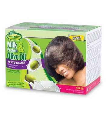 Sof N' free gro healthy milk protein & olive relaxer kit(Regular)