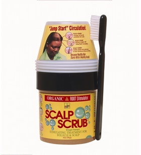 Organic root stimulator scalp scrub kit