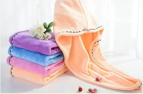 Luxury turban hair drying wrap  towel