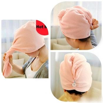 Luxury turban hair drying wrap  towel