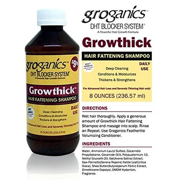 GROGANICS Growthick Hair Fattening shampoo 236..ml