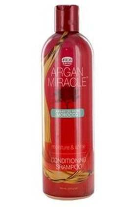 African Pride Argan miracle conditioning shampoo.