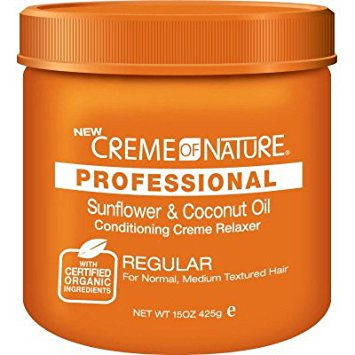 CREME OF NATURE SUNFLOWER & COCONUT RELAXER JAR  425G