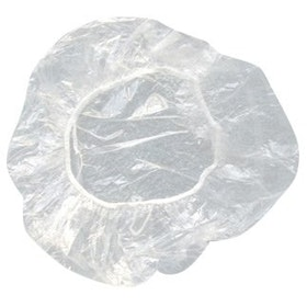 PLASTIC SHOWER CAP 8PCS.(TRANSPARENT)