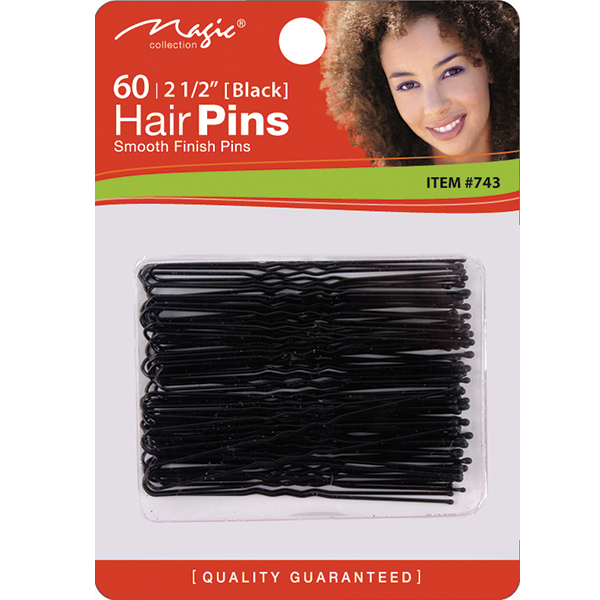 HAIR PINS . BLACK. 80CS