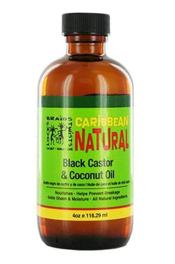 CARRIBEAN NATURAL BLACK CASTOR & COCONUT OIL  118.3ML