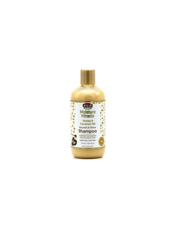 AFRICAN PRIDE MOISTURE MIRACLE HONEY & COCONUT SHAMPOO 354ML