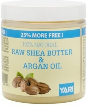 YARI 100% NATURAL  RAW SHEA BUTTER & ARGAN OIL 250ML