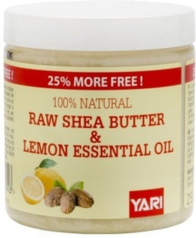 YARI 100% NATURAL RAW SHEA BUTTER & LEMON OIL 250ML