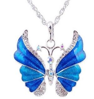 Halsband Blå fjäril