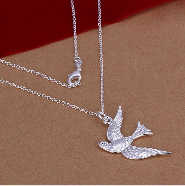 Fredsduva 925 silver halsband