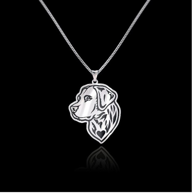 Golden Retriever halsband 925 silver