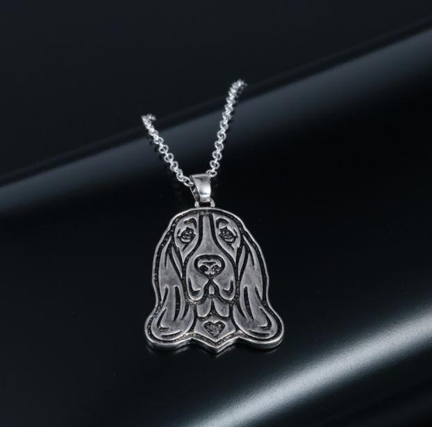 Basset halsband 925 silver