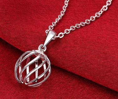 Zircon halsband silverpläterad