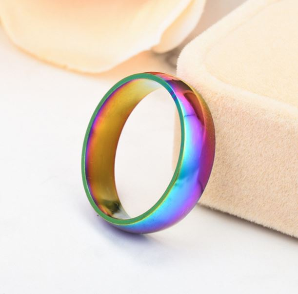 Titanium ring, flerfärgad