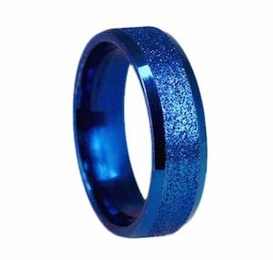 Titaniumring, blå