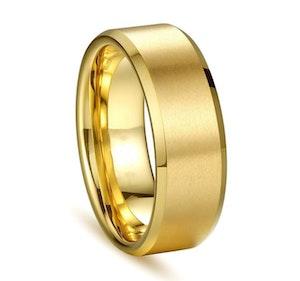 Titaniumring, slät, guld