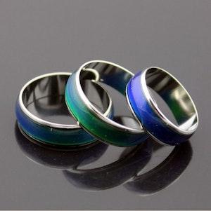 Temperatur ring, ändrar färg efter din fingertemperatur