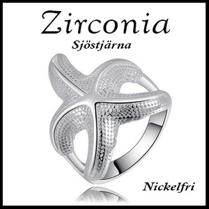 Ring sjöstjärna från Zirconia