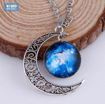 Halsband - Galaxy moon - blå