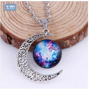Halsband - Galaxy moon - blåröd