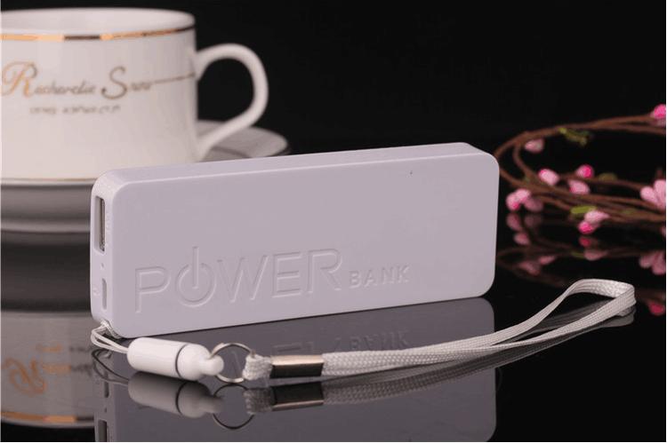 Powerbank 2600 mAh med handlovsrem