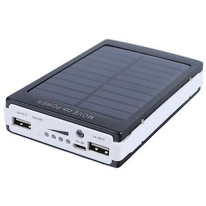 Powerbank 20 800 mAh med inbyggda solceller