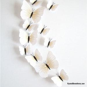 3D-Fjärilar, vitmönstrade