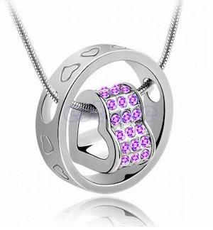 Ring/Hjärta - Halsband 46 cm