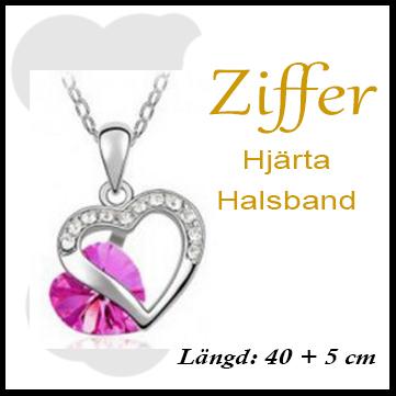 Hjärta rosa/silver från Ziffer